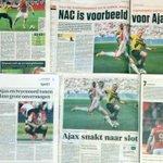 'Ajax fluitend tweede'Wat schreven de ochtendkranten nog meer na#ajanac? http://t.co/fUPdN8AdNs