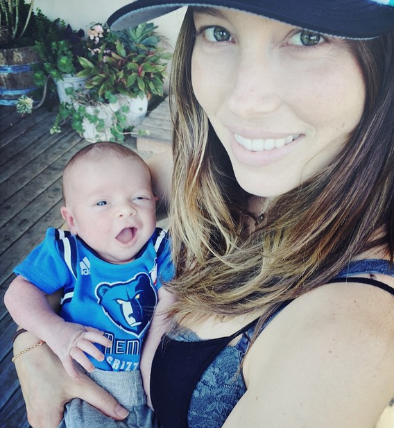 How gorgeous is this first snap of Justin Timberlake and Jessica Biel's baby son?