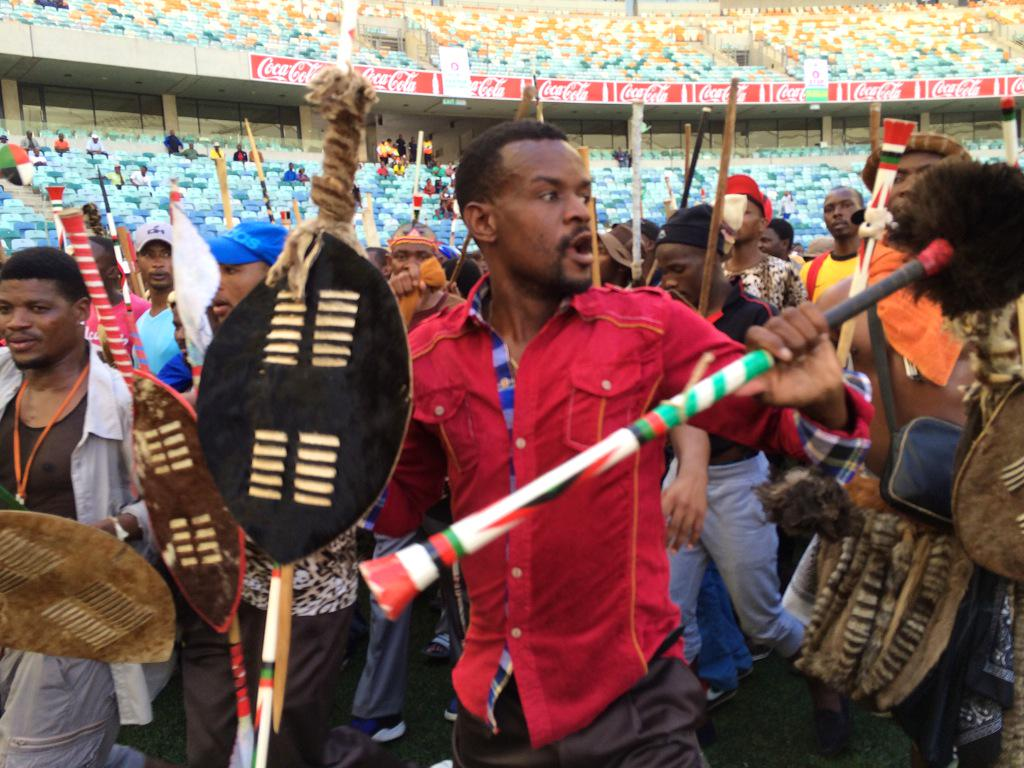 #Xenophobia At the stadium in durban where the King of the Zulus is expected to speak shortly. http://t.co/lP6OgUj5YM