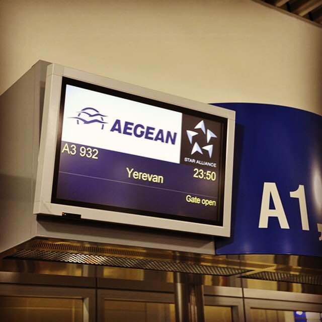 Welcome onboard our first flight to Yerevan! AegeanNewDestinations Book your tickets @
