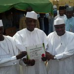 """Men in White RT""""@WamakkoAliyu: With Governor Elect and Deputy Governor Elect at INEC Office http://t.co/IMFez7sLNg"""""""