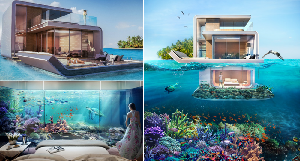 Future design floating seahorse boats offer partially submerged living in dubai gizmag - The floating homes of dubai luxury redefined ...