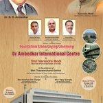 Will lay foundation stone of Dr. Ambedkar International Centre. http://t.co/vnR2RtTo8E http://t.co/hAkjLYRFoD