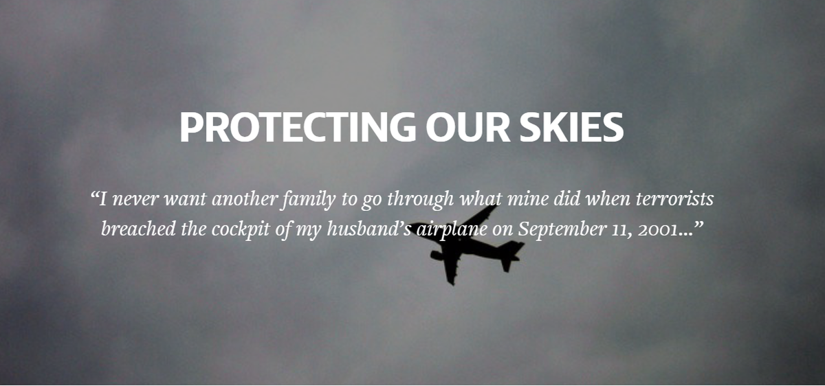 The bipartisan Saracini Aviation Safety Act [HR 911] protects our skies. Learn more -->