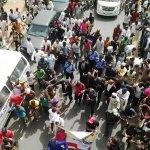 """@Austynzogs: Hamisu Abubakar,the man who trekked frm Lagos to Abuja for GMB arrived Abuja today PIX by @Princemeek19 http://t.co/bnN44G0Iiu"