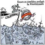 """Ce ne freghiamo"". I naufragi nel Mediterraneo visti dalla satira. http://t.co/ekhXjJfIn5 http://t.co/RmWQxLk80o"