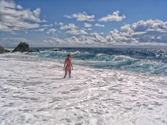 Пляж девушки крым фото