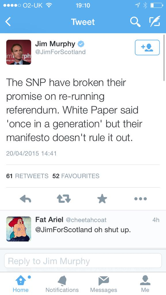 If this is the worst labour can say about us then we're doing pretty well. #SNP http://t.co/ppXTtv2dMT
