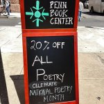 Only 10 more days to enjoy 20% off ALL #POETRY for #NationalPoetryMonth! #books #Philly #Philadelphia #Phillybooks http://t.co/LXbNiqkJEZ