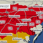 #BREAKING: #Tornado watch until 10pm EDT for #DC #Baltimore #Philadelphia + parts of PA, NJ, DE, MD, VA, WV. http://t.co/M2XbAVfTgP
