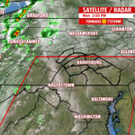Radar is quiet right now but a TORNADO WATCH has been issued until 10pm for the ENTIRE AREA. http://t.co/0qKkPEUHYX
