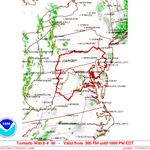 Tornado Watch has been issued for much of our area until 10PM tonight. http://t.co/EEbcnn62Lj