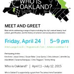 This Friday, I'll be at the meet n great at @oaklandmuseumca w other artist talking #oakland http://t.co/qPN4BEIvff http://t.co/2F7WFv6W2y