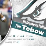 OFFICIAL: Its #TebowTime to #FlyEaglesFly. #Eagles sign QB @TimTebow to a one-year contract. http://t.co/Er9XtMnK9q