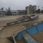 Fishing boats filled with sand at #Coogee Beach #storm #Sydneyweather #Sydneystorm @photosSMH http://t.co/vD8TPNEkcP