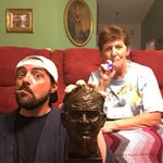 Blazin' with Amazin' Grace: me & Mom celebrate the end of 4/20 with a bust of Dad, a smoke & a vape. #MuricanGothic