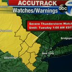 Severe Thunderstorm Watch for NW New Jersey until 1am. @abc7ny http://t.co/QBDEqF3tRv
