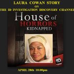 "@TiffanyTarpley Im tomorrow on ID Investigation Discovery episode called""THE HOUSE OF HORROR""April 28th @ 10:00pm(e) http://t.co/YAuYdFp9Sg"