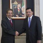 Un gusto recibir esta tarde en la @Segob_mx al Gobernador de @slpgobmx Fernando Toranzo. http://t.co/kJIsLAsUsH