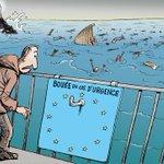 #naufrage meurtrier en Méditerranée - © Chappatte dans Le Temps, Suisse http://t.co/rGyGD2nyfd