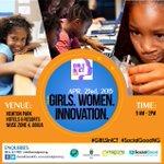 #EventWorthAttending: #GirlsinICT 2015 | April 23, 9am | 8 Capetown off IBB Way, Zone 4, Abuja | RSVP ~ @SocialGoodNG http://t.co/AXBI8KjN6B
