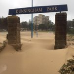 Sydney storm Day 2 Coogee sandblasted #sydney #coogee #weather @smh @PeterRaeSMH http://t.co/PtE2qZs8FO
