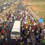 Man who promised to walk from Lagos to Abuja if GMB wins , has arrived Abuja. @MBuhari @DeleMomodu @Ayourb @B_ELRUFAI http://t.co/r4RFG8jjUI