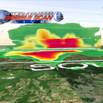 Heres a slice of the storm just northwest of Harrisburg that was capable of producing a tornado. Top to near 30K Ft. http://t.co/lZY6HxoIkL