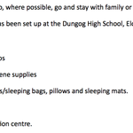 Evacuation information for #Dungog residents, as provided by @nswpolice. #nswstorms http://t.co/rhwf7tdljZ