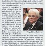 Strage migranti. Mattarella critica lUE http://t.co/yq5hxMh3KY