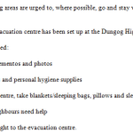 An evacuation centre has been set up at the Dungog High School, Eloiza Street, Dungog. #NSWWeather #9News http://t.co/VL2od1lkb3