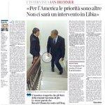 La diplomazia di Renzi. Nulla ha ottenuto da Obama se non la conferma del suo disimpegno sulla Libia http://t.co/sD8N15I5QH