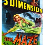 THE MAZE (1953) 3D #horror #scifi colorful #poster http://t.co/B4yFge1qDQ