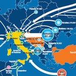 Una mappa che mostra da dove arrivano i migranti in Italia http://t.co/rrQbKbrl7S http://t.co/Vmz8mraLC0