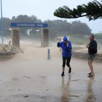 Dunningham Park at Coogee.. with some added sand. Photo by @John__Donegan #SydneyStorm #SydneyWeather http://t.co/eGUudrr1NK
