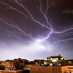 Stormy night in DC: RT @AFP: Lightning brightens up the night sky over Washington, DC, during a rainstorm http://t.co/5LlbUx4OWc
