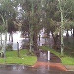 #SydneyStorm Narrabeen Lagoon spills into park #auspol http://t.co/4htLMTzyCP