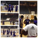 The boss @ldeleon5 hooping w/ the fellas today! Glad to have him out on the hardwood w/ us! #GoWildcats #ACUE4C http://t.co/FMBz9hvI2h
