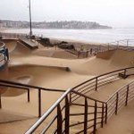 North Bondi surf club posted this... Hows the sand across the Skate Park! #SydneyStorm http://t.co/yxlOXO1LYm