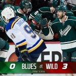 3-0! #mnwild wins Game 3 against #stlblues! Dubnyk gets his first #NHL postseason shutout! #STLvsMIN http://t.co/vzvcuLfebN
