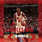 Bulls win! Jimmy Butler goes for 31 Pts and 9 Reb while Derrick Rose 15 Pts and 9 Ast. Bulls take 2-0 series lead. http://t.co/XC6S4ouOSN