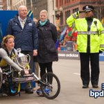#BPD Officer Kim Tavares stands at attention during ceremony for women's wheelchair winner Tatyana McFadden. http://t.co/ptDlQyAIRf