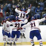 The raw emotion of forcing a game seven. Captured by OJHLI @PhotogWatts @KingstonVees http://t.co/dMTtJKu2Hv