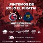Este viernes ante @PumasMX #PintemosDeRojoElPirata venga mi Tibu! #SiempreTiburón #ElTibuNoSeFue http://t.co/vyYDubmbla