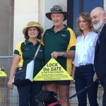 Lock the Gate campaigners at State Parliament rallying against anti protest laws #wapol @abcnewsPerth http://t.co/fbNeg9ZGql