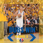 WARRIORS WIN! Golden State jumps out to a 2-0 series lead behind 26 Pts from Thompson and 22 Pts from Curry. http://t.co/kSXTIHfDqJ