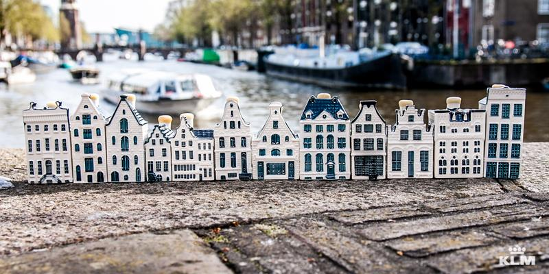 See the life-size KLM houses in Amsterdam during this walk through the city.