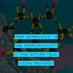 User experience is the responsibility of the entire team. #fbtb2015 #ux — @leisa http://t.co/qezTGu2Xmn