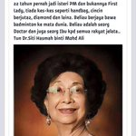 Tun Dr Siti Hasmah is the mother of Malaysia. A great example to many woman, especially those at the top. http://t.co/IF6ztq66Qy