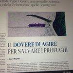 Non é più emergenza, è la nostra storia. Il dovere di agire, da leggere @mauromagatti su @Corriereit http://t.co/jLtyfMAIPY